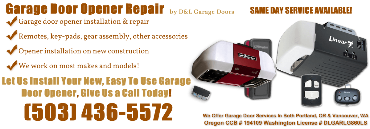 Portland Garage Door Opener Repair