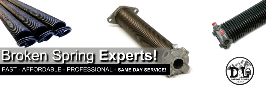 broken spring  garage door repair portland