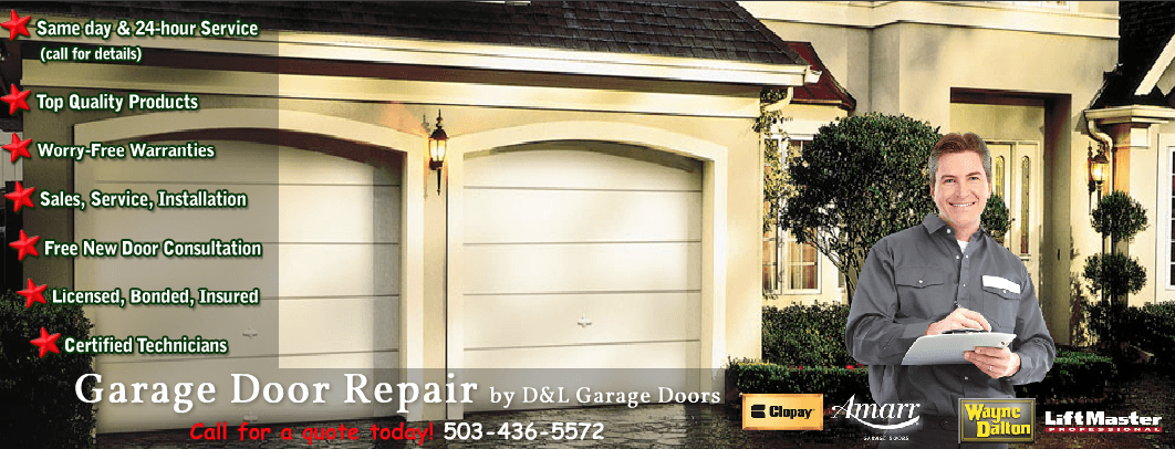 Garage Door Repair And Installation By D L In Portland Or