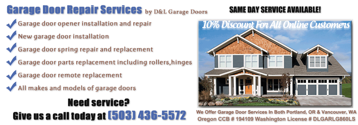 Portland Garage Door Repair D&L Garage Door
