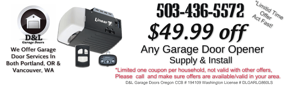 discount garage door opener replacement