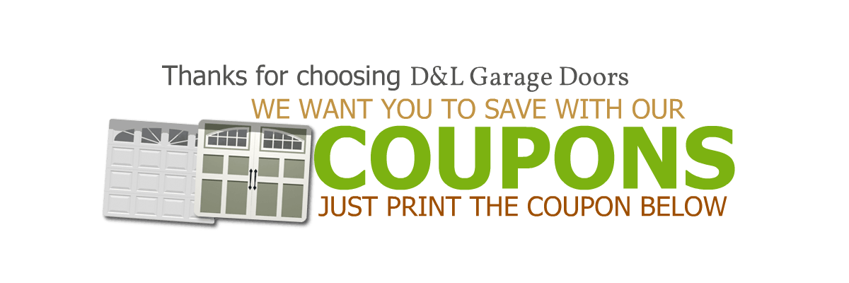 coupons and special offers for any garage door repair and installation in Portland and Vancouver