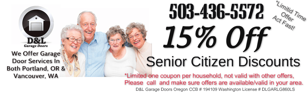 senior citizen discount garage door repair